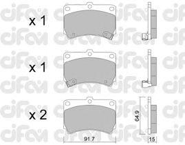 Тормозные колодки CIFAM 822-196-0