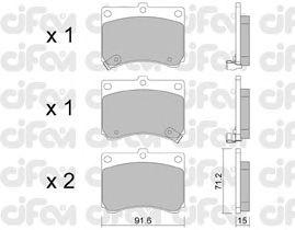 Тормозные колодки CIFAM 822-197-0