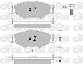 Тормозные колодки CIFAM 822-254-1