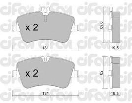 Тормозные колодки CIFAM 822-342-0