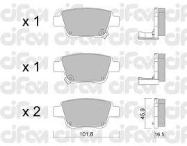 Тормозные колодки CIFAM 822-451-0