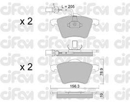 Тормозные колодки CIFAM 822-550-1