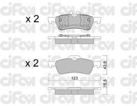 Тормозные колодки CIFAM 822-556-0