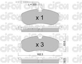 Тормозные колодки CIFAM 822-707-0