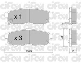 Тормозные колодки CIFAM 822-735-0