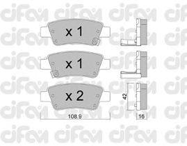 Тормозные колодки CIFAM 822-790-0