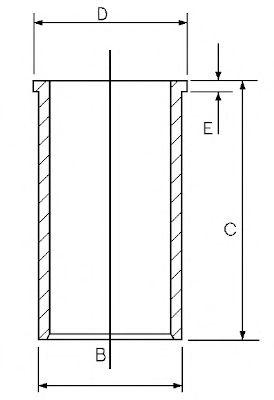 Гильза цилиндра GOETZE ENGINE 14-020450-00