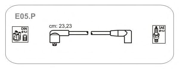 Комплект высоковольтных проводов JANMOR E05.P