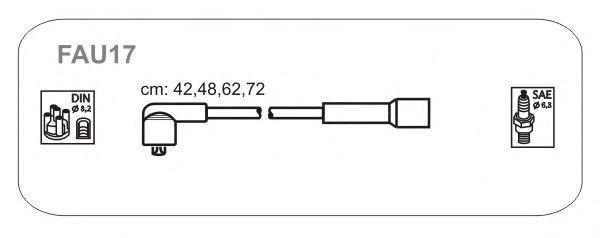 Комплект высоковольтных проводов JANMOR FAU17