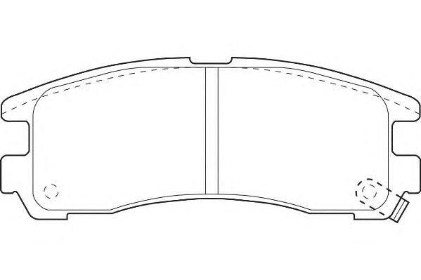 Тормозные колодки WAGNER WBP21706A