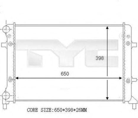 Радиатор, охлаждение двигателя TYC 702-0023