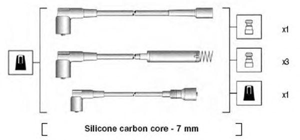 Комплект высоковольтных проводов MAGNETI MARELLI 941125440692
