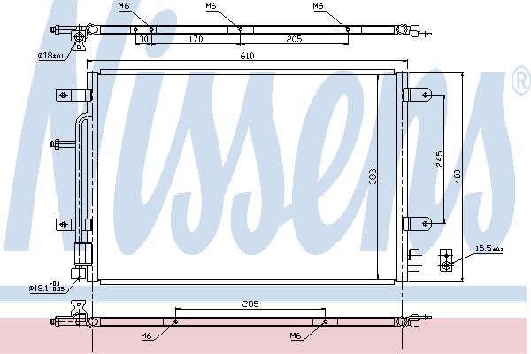 Радиатор кондиционера NISSENS 940139