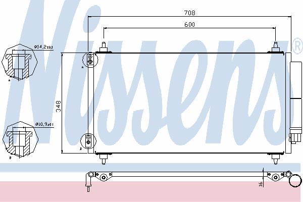 Радиатор кондиционера NISSENS 940146