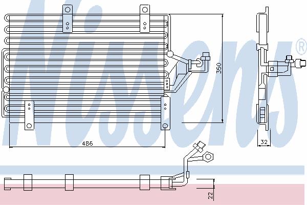 Радиатор кондиционера NISSENS 94215
