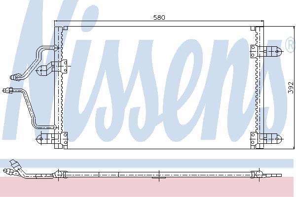 Радиатор кондиционера NISSENS 94245