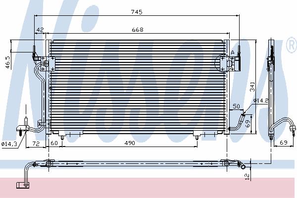 Радиатор кондиционера NISSENS 94276