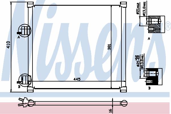 Радиатор кондиционера NISSENS 94302