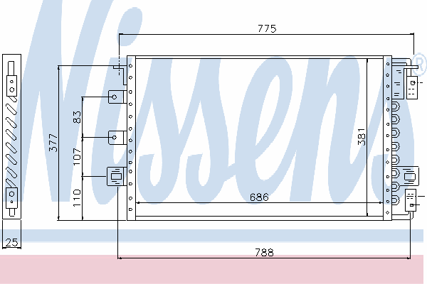 Радиатор кондиционера NISSENS 94680
