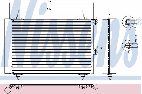 Радиатор кондиционера NISSENS 94870