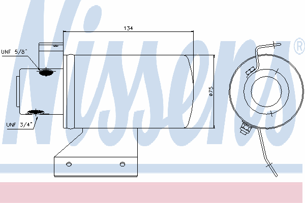Осушитель кондиционера NISSENS 95053
