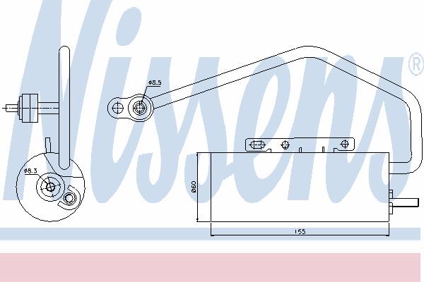 Осушитель кондиционера NISSENS 95447
