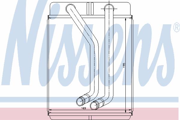 Радиатор отопителя NISSENS 77507