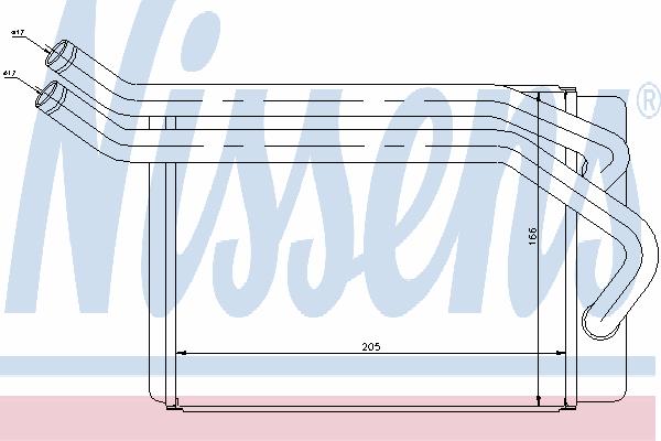 Радиатор отопителя NISSENS 77614