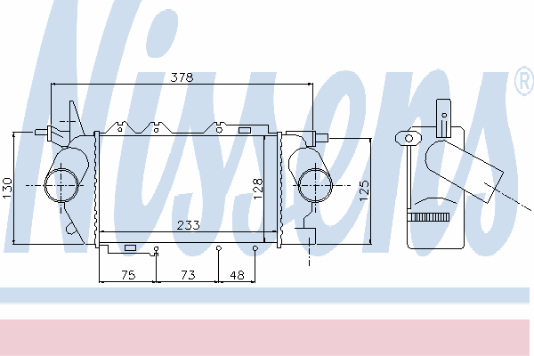 Интеркулер NISSENS 96772