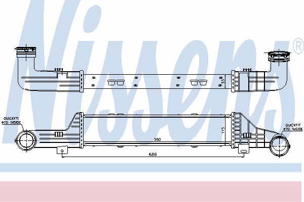 Интеркулер NISSENS 96899