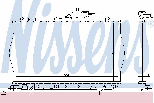Радиатор, охлаждение двигателя NISSENS 622971