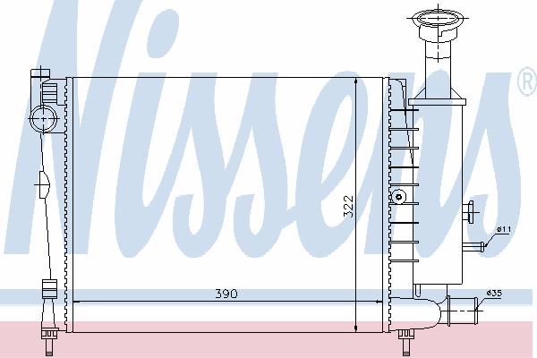 Радиатор, охлаждение двигателя NISSENS 61354