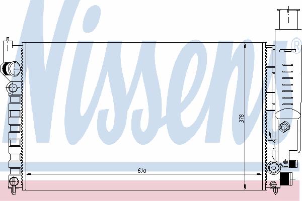 Радиатор, охлаждение двигателя NISSENS 63613