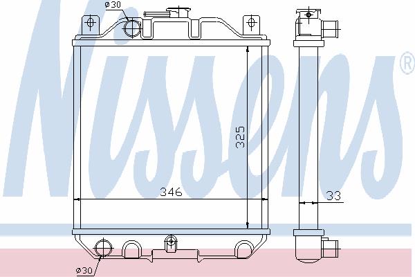 Радиатор, охлаждение двигателя NISSENS 64083