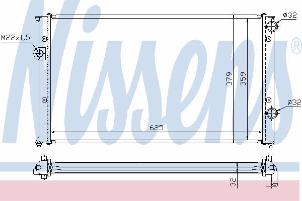 Радиатор, охлаждение двигателя NISSENS 65243