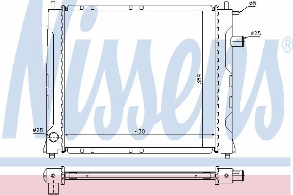 Радиатор, охлаждение двигателя NISSENS 64209A