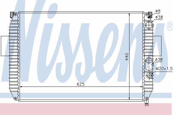 Радиатор, охлаждение двигателя NISSENS 61975