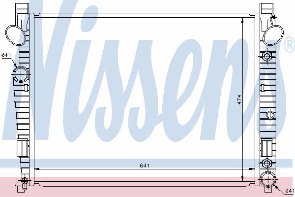 Радиатор, охлаждение двигателя NISSENS 62772