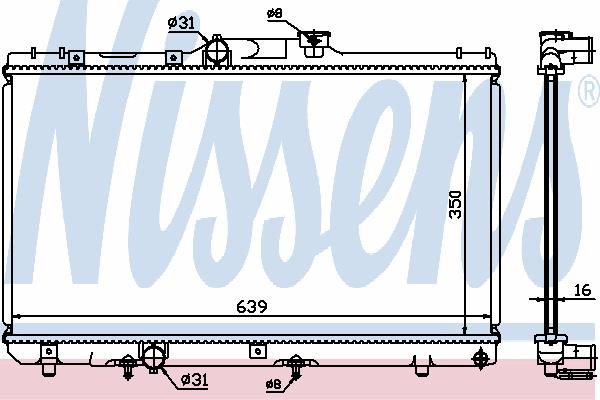 Радиатор, охлаждение двигателя NISSENS 64868A