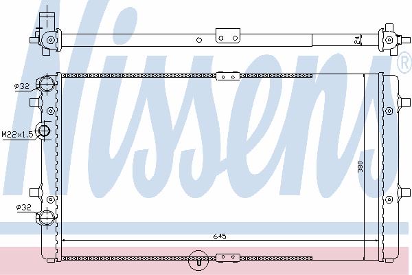 Радиатор, охлаждение двигателя NISSENS 67301