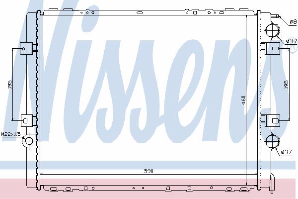 Радиатор, охлаждение двигателя NISSENS 63859