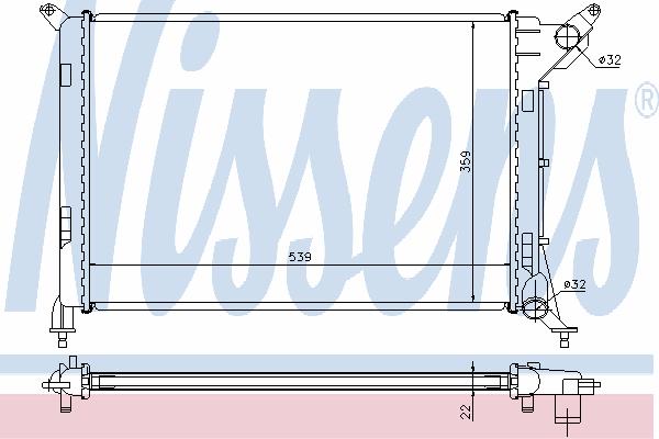 Радиатор, охлаждение двигателя NISSENS 69702A
