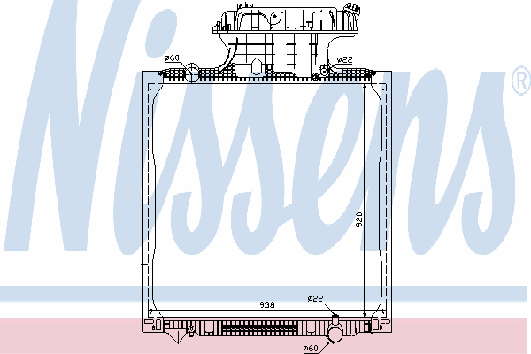 Радиатор, охлаждение двигателя NISSENS 62873