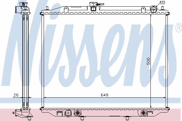 Радиатор, охлаждение двигателя NISSENS 68709A