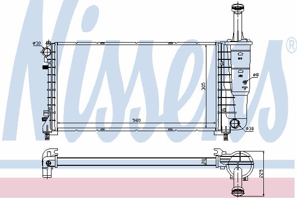 Радиатор, охлаждение двигателя NISSENS 61898