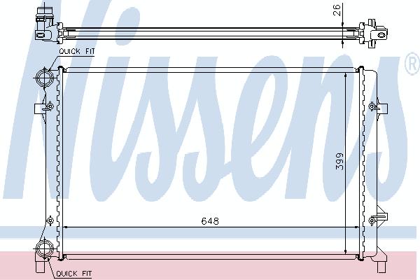 Радиатор, охлаждение двигателя NISSENS 65277