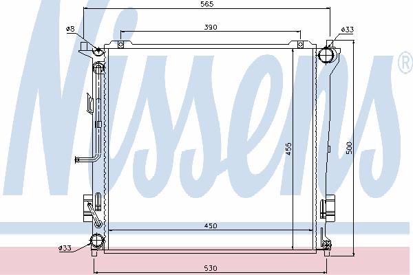 Радиатор, охлаждение двигателя NISSENS 67078