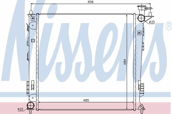Радиатор, охлаждение двигателя NISSENS 67517