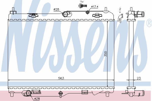 Радиатор, охлаждение двигателя NISSENS 69233