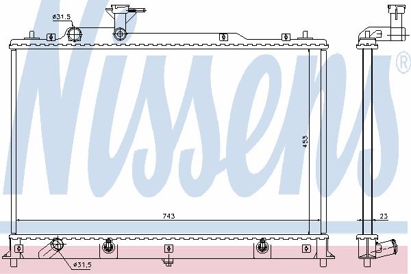 Радиатор, охлаждение двигателя NISSENS 68524